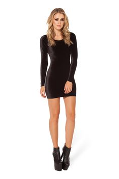 Velvet Long Sleeve Dress 2.0 by Black Milk Clothing $110AUD