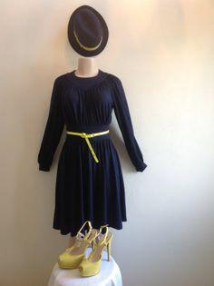 1960s Navy Blue Vintage Dress by RozzCloset on Etsy, $30.00....(SOLD)