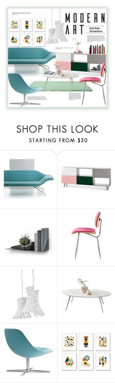 """Pastel Dècor"" by fassionista ❤ liked on Polyvore featuring interior, interiors, interior design, home, home decor, interior decorating, Artifort, Vitra, Herman Miller and Bernhardt Design"