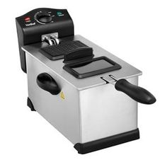 VonShef Deep Fryer with Basket and Viewing Window - 3 Oil Litre - Stainless Steel - Non-Stick, Easy Clean Baked Doughnut Recipes, Doughnut Pan, Best Deep Fryer, Fish And Chip Shop, Best Charcoal, Charcoal Grill, Turkey Fryer, Steel House, Fish And Chips