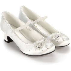 Monsoon Ivory Beaded Bow Cha Cha Cha Shoes ($35) ❤ liked on Polyvore