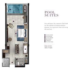 hotel planos New World Grand Bali Resort Bali Resort, Resort Villa, Design Hotel, Resort Plan, Hotel Floor Plan, Villa Plan, Small Space Interior Design, Floor Plan Layout, Bedroom Floor Plans