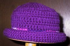 Suzies Stuff  ROLL BRIM HAT - CHILD S (c) Crochet Kids Hats e69d8ebb19fb
