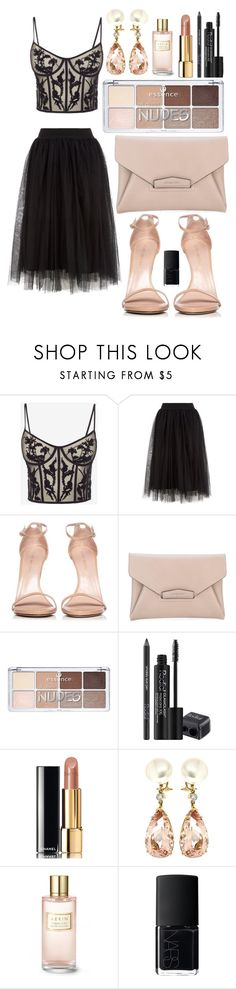 """""""Senza titolo #1928"""" by elizabethdreamer96 ❤ liked on Polyvore featuring Alexander McQueen, Stuart Weitzman, Givenchy, Rodial, Chanel, Valentin Magro, Estée Lauder and NARS Cosmetics"""