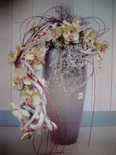 Zijden arrangement orchideeen
