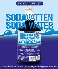 Sodavatten arom för kolsyrat vatten 270 ml med pump, räcker till 135 L Sodavatten. Riktig Sodavatten med smaken från natriumkarbonat mineralsalt. Bra för magen och det enda rätta till en äkta whisky och soda.