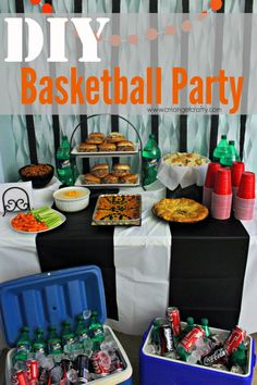 DIY Basketball Party & Coca-Cola Pulled Pork Sliders #HoopMadness #ad