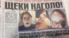 Russian tabloid Tvoi den reports on campaign to shave off beards in protest at Conchita's victory Bearded Lady, Bbc News, Victorious, Russia, Songs, Beards, Den, Campaign, Song Books