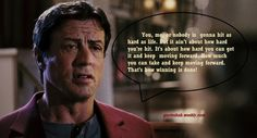 We bring you the most memorable and inspiring quotes and sayings from the movie Rocky Balboa (2006).