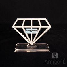 #Trofeu modelo diamante