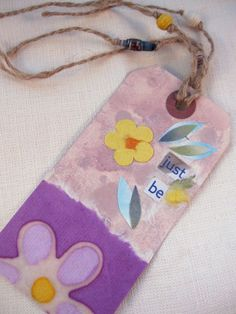 Tag  bookmark handmade paper beads handmade by pipsqueekcreations, $3.50 #jenbnr