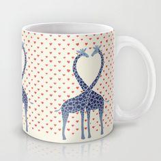 Giraffes in Love - a Valentine's Day illustration Mug by Micklyn