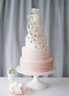 Wedding #Cakes on SMP: http://www.StyleMePretty.com/little-black-book-blog/2014/01/24/wedding-cake-ideas/ Katie Parra Photography | Cakes by The Sweet Side
