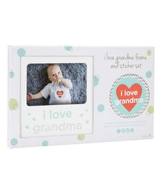 Look what I found on #zulily! 'I Love Grandma' Sticker & Frame Set #zulilyfinds