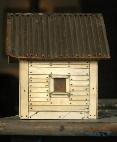 Early 1900s Ivory Piano Key House / Box  via artpropelled.tumblr.com
