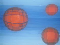 Ritam je stvoren primenom gradcije.  Volumen je dobijen koriscenjem komplementarnih boja i razlicitim nijansama tih boja.