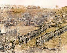 Tropas. Militares españoles en Santiago de Cuba durante la Guerra de 1898.