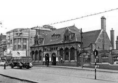 Stratford Market Station, High Street Stratford looking north 1957