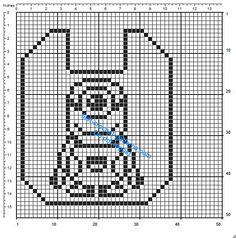 Filet Crochet Baby Bib Patterns : Bavaglino filet uncinetto gratis con Hello Kitty schema ...