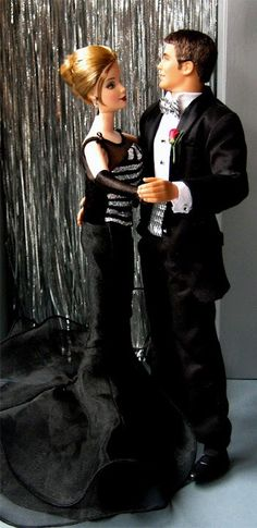 BArbie and KEn in Black,,,,,
