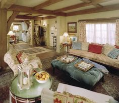 Rosehill Cottage in the movie, The Holiday. Sitting room.