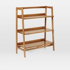 Mid-Century Bookshelf - Low Wide   west elm  :: $340 (replace the bar shelf?)