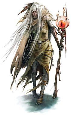 Character Art by Eva Widermann, via Behance.  skull belt, bones down the side of the cloak, big eye (of a dragon?)