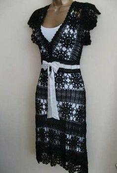 Crinochet: Free People Maxi Vestido com motivo do círculo e outros Runway Crochet Pieces