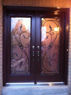 Wroght Iron Steel Door Iron Steel, Iron Work, Steel Doors, Windows And Doors, House Design, Awesome, Home Decor, Iron Doors, House