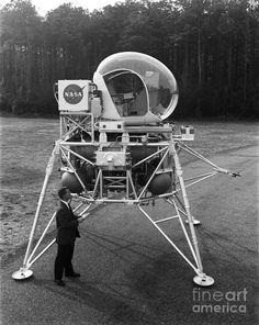 Lunar Landing Research Vehicle Poster featuring the photograph Lunar Landing Research Vehicle by Nasa
