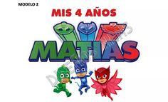 6df33fcc95 logo personalizado pj mask héroes pijamas p  kit imprimible