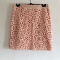 Lace skirt Peach colored lace skirt, great condition! Perfect for spring  Forever 21 Skirts Mini