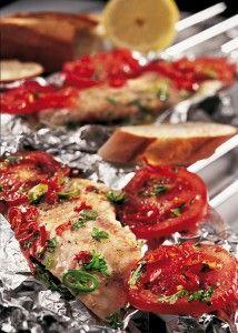 Chili Kabeljau in Alufolie - kann man auf dem Grill oder im Backofen zubereiten