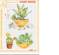Succulents cross stitch pattern (2)