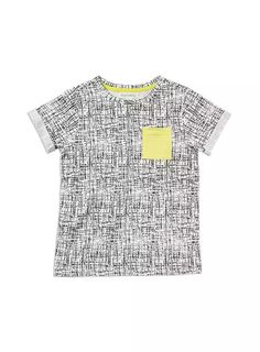 Also a bit cooler with a motif added to the pocket... Charlie & Me Boys Printed Cuffed Tee White -