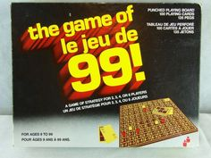 Vintage 1963 The Game Of Le Jeu De 99! A Strategy Game For Ages 9 To 99 Complete…