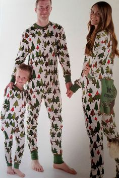 New Organic Christmas Family Matching Pajamas Set Adult Kids Sleepwear Nightwear Christmas Pajama Party, Holiday Pajamas, Christmas Couple, Christmas Pajamas, Xmas, Reindeer Christmas, Christmas Pictures, Christmas Stuff, Christmas Trees