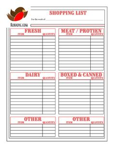 This fantastic printable shopping guide will make your trip to the grocery store more fast, efficient and simple. Clear categories that match the parts of the store, lots of room to write and cross off as you go and a space for the extras that do not fall into the categories. You can print as many as you want.    This organizer is part of our Special Recipes Master Kit! Look in our shop to find the entire kit that will help you not only organize your recipes and meal planning but create a…