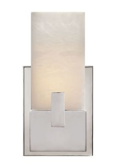 KELLY WEARSTLER | COVET SHORT CLIP BATH SCONCE. Alabaster stone set in Antique Burnished Brass, Polished Nickel or Aged Iron