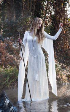 """elvenforestworld: """" Ravenswing Dress - Elven Style Velvet & Chiffon Gown """""""