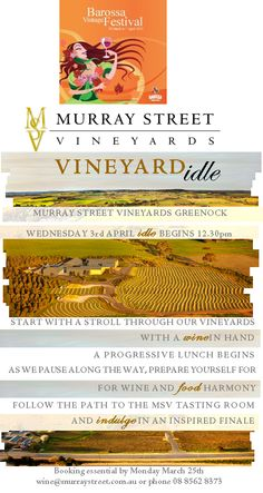 Join us for the Barossa Vintage Festival as we idle through the vineyard!