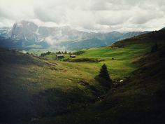 Rolling hills in Bolzano, Italy