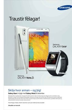 Samsung GALAXY Note 3 & Galaxy Gear NCO / Netkaup.is, NCO eCommerce, Neskaup.  www.netkaup.is