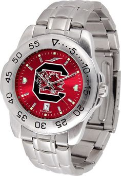 South Carolina Gamecocks Men Sport Steel Watch With AnoChrome Dial