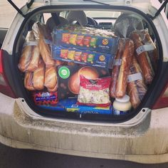 """Wow. You can ""fit"" a lot of stuff in here. #hondafit #foodorder #camp"" Photo taken by @ajensen120 on Instagram, pinned via the InstaPin iOS App! http://www.instapinapp.com (02/13/2015)"