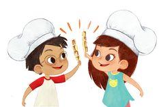 Children's Cookbook for Fleurus Editions on Behance