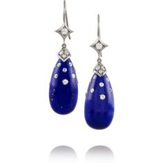 Fred Leighton Collection 18-karat white gold, lapis and diamond... (13,410 CAD) ❤ liked on Polyvore