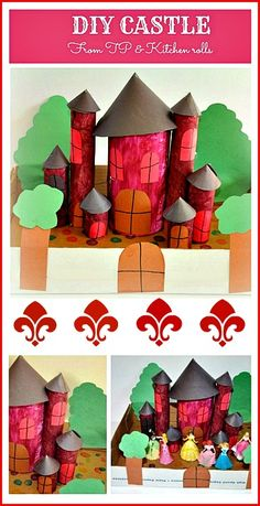 Easy paper roll castle - for a medieval unit study, great for pretend play areas or a fun and easy upcycle craft.