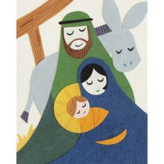 """Our """"Peaceful Nativity"""" card is lovingly handcrafted in the Philippines by women survivors of sex trafficking. The card incorporates a variety of handmade, recycled papers, making it environmentally s"""