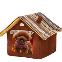 New Arrival Luxury Pet House for Dogs Brand Senior Striped Kennel Nest for Small Medium Large Dogs Animal Tent Bed S M L XL